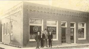 The former San Pierre Bank building in its glory days. Photo courtesy of the Starke County Historical Society