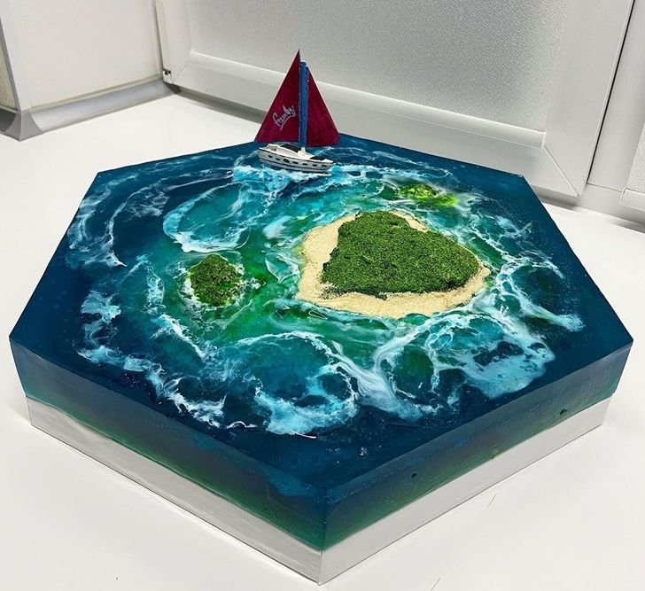 15 Cakes That Look Like Paradise Islands Lost in the Ocean