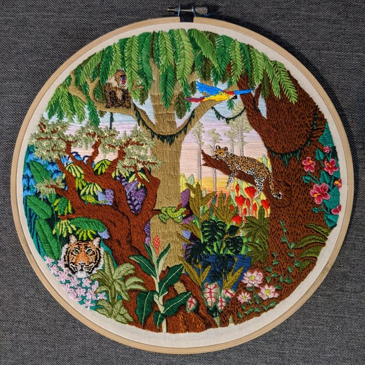 20 embroidery artists shared some of their work on the internet