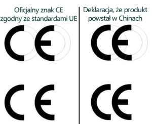 Znak China Export - chińska podróbka oznaczenia CE (Conformité Européenne)