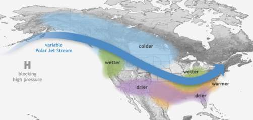 wplyw-la-nina-na-pogode-w-ameryce-polnocnej - @ NOAA Climate