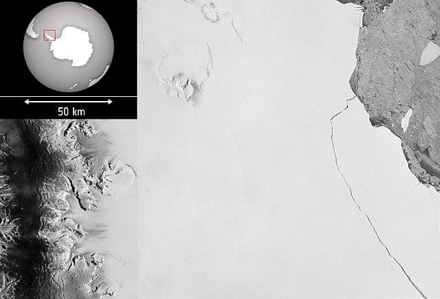 Ogromna góra lodowa oderwała się od Lodowca Szelfowego Larsen C