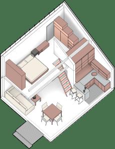 Przykładowy projekt wnętrza Solace House