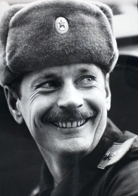 Chorąży Bork kierowca wozu strażackiego - wykonał dziesiątki przejazdów do strefy Czarnobyla w pierwszych dniach po wypadku.