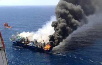 Zatonięcie rosyjskiego statku Oleg Najdienow w okolicach Wysp Kanaryjskich