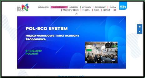 Międzynarodowe Targi Ochrony Środowiska POL-ECO SYSTEM w Poznaniu już 9-11 października