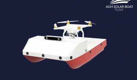 Autonomiczna łódź solarna z AGH pomoże zbadać dno rzek i jezior