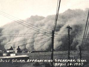 Burza piaskowa, Spearman, Teksas, 14 kwietnia 1935