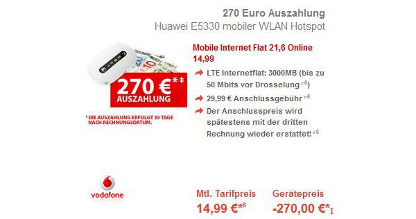 günstiger Vodafoen Datentarif mit 3GB