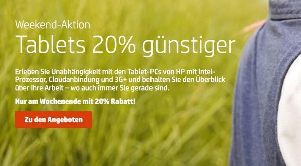 HP Tablet 20 Prozent günstiger kaufen