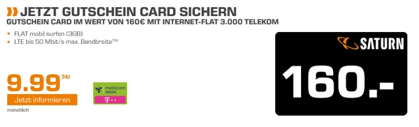 Daten Internet-Flat 3GB LTE Telekom D1 Netz