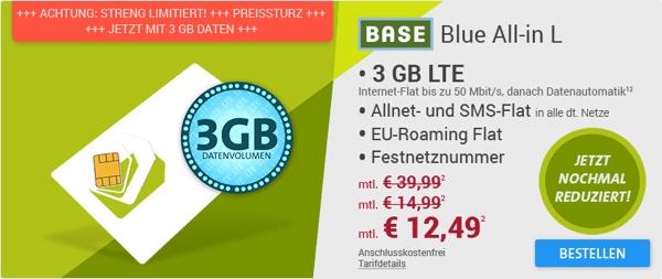 3gb lte telefonier flat eu roaming flat f r unter 13 euro. Black Bedroom Furniture Sets. Home Design Ideas