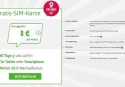 gratis SIM Karte kostenlos 500 MB FYVE