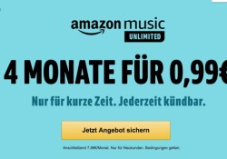 Amazon Music Unlimited fast kostenlos testen