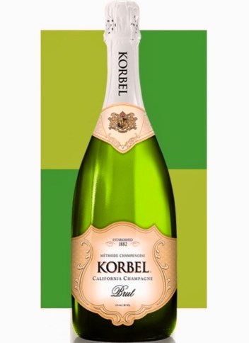 Bottle of Korbel California Sparkling Wine