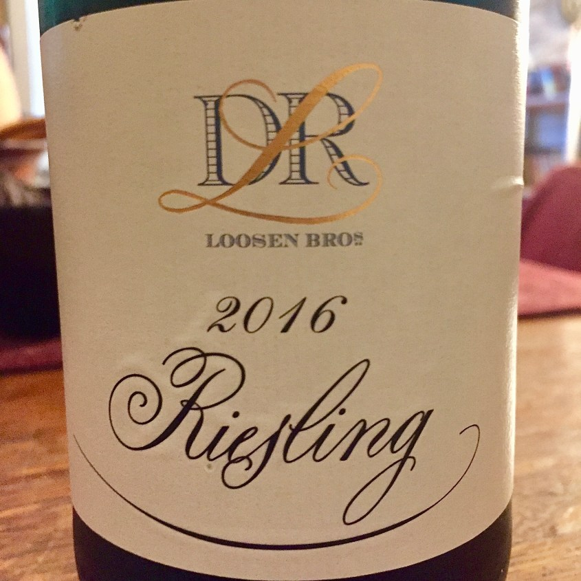 Label from a bottle of Loosen Brother's Mosel Riesling 2016