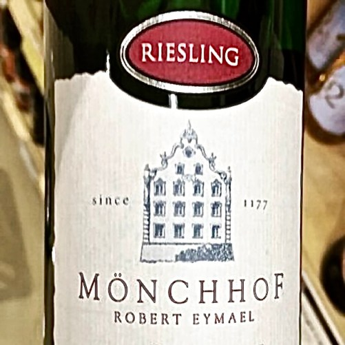 Label from bottle of Mönchhof Mosel Riesling 2016