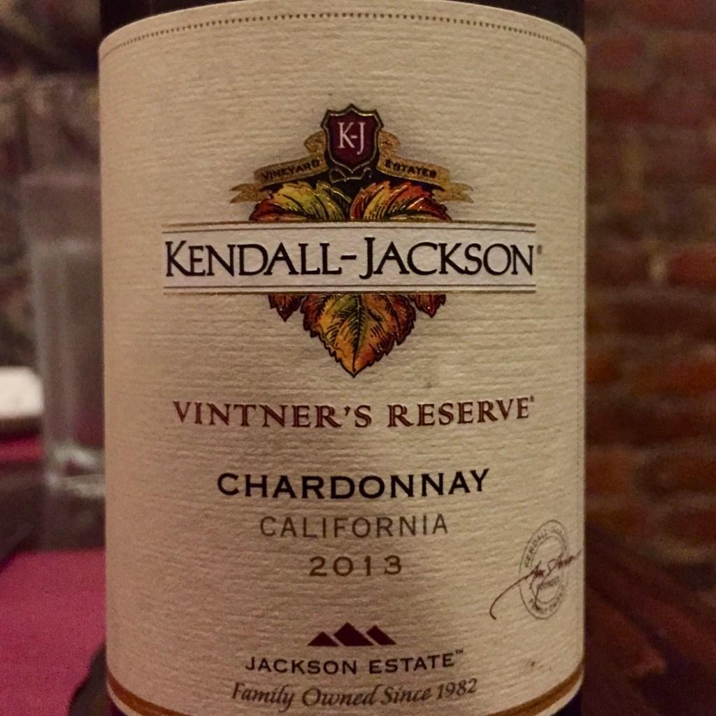 Label from bottle of Kendall-Jackson Vintner's Reserve California Cardonnay 2013