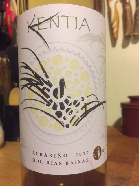 Label from bottle of Kentia Rías Baixas Albariño 2017