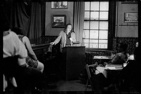 Writer W. Lance Hunt speaks at KGB Bar in New York City.