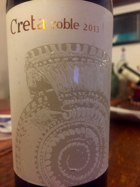 label from bottle of Creta roble Ribera del Duero 2013