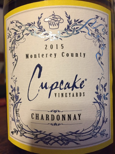 Label from bottle of Cupcake Vinyards Monterey County Chardonnay 2015