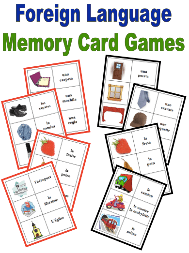 Classic Memory Game to Help with Vocabulary Retention (French, Spanish) wlteacher.wordpress.com