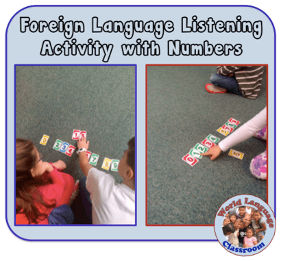 Foreign (World) Language Listening Activity with Numbers (French, Spanish) wlteacher.wordpress.com