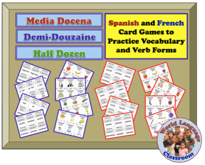 Foreign (World) Language Card Games to Practice Verb Forms and Vocabulary (French, Spanish) wlteacher.wordpress.com