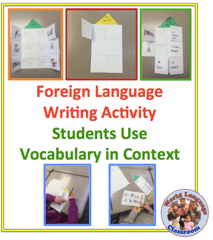 Foreign (World) Language Writing Activity: Vocabulary in Context (French, Spanish) wlteacher.wordpress.com