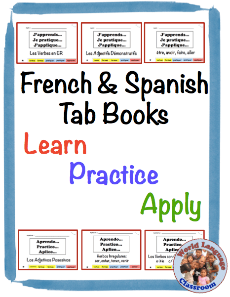 French and Spanish Vocabulary and Grammar Tab Books www.wlteacher.wordpress.com