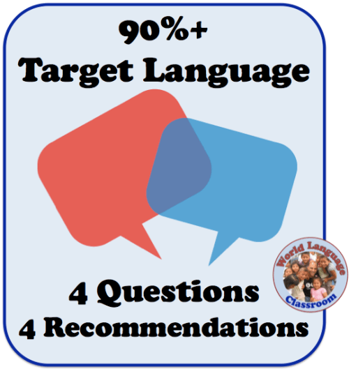 90%+ Target Language Use in the Foreign Language Classroom (French, Spanish) wlteacher.wordpress.com
