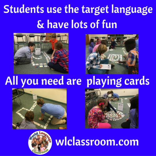 Foreign Language Speaking Activity with Playing Cards (French, Spanish)