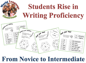 Help Students' Foreign Language Writing Rise from Novice to Intermediate (SlideShare) (French, Spanish) www.wlclassroom.com