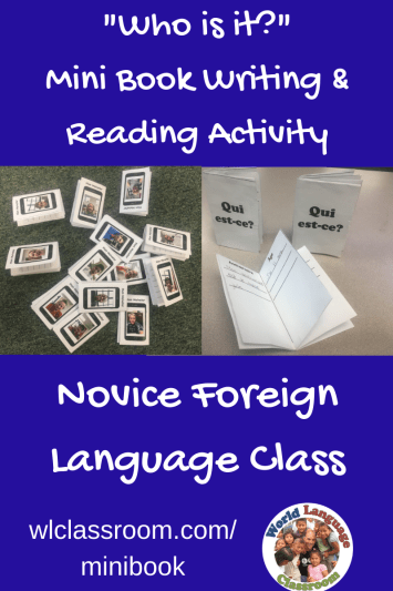 """""""Who is it?"""" Guess Who Activity for Level 1 Foreign Language Students (French, Spanish)"""