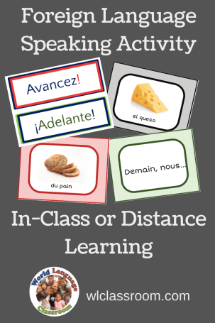 Foreign Language Speaking Activity, In-Class or Distance Learning (French, Spanish)