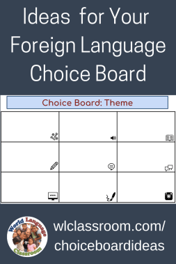 Suggestions for Foreign Language Choice Board Options (French, Spanish)