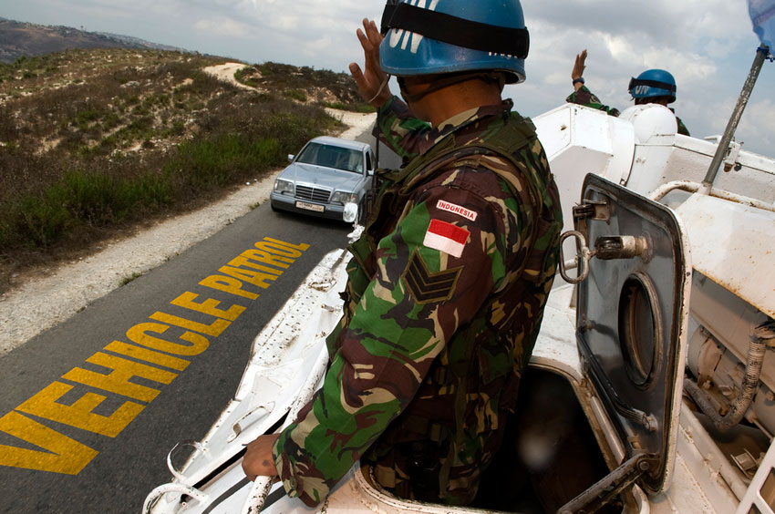 UNIFIL peacekeepers on patrol in Lebanon. Photo: UNIFIL
