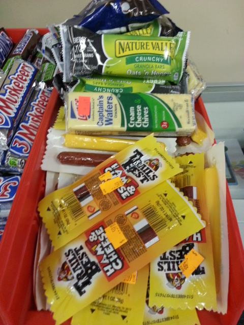 Assorted pocket-sized crackers, snack packs, and granola bars are less than $1 at WLExperts!