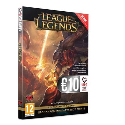 League of Legends 1580 RP 10 EUR Cardb