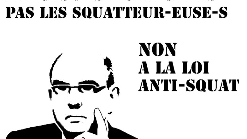 Non à la loi anti-squat!
