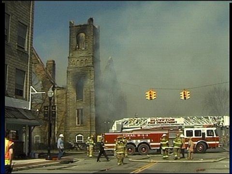 Fire Destroys Century Old Ada Church Hometownstations