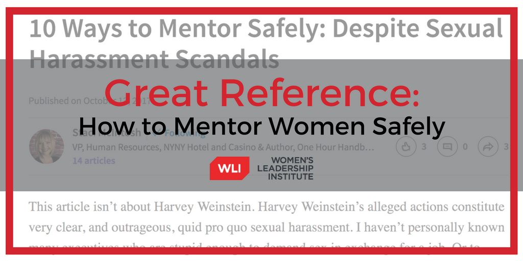 How to Mentor Women Safely
