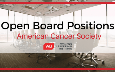 American Cancer Society Open Board Positions