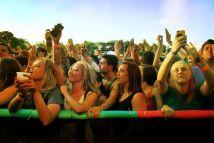 Front Row Concert Goers