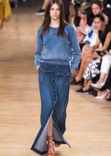 Джинсовая юбка с пуговицами спереди (43 фото): карандаш ...