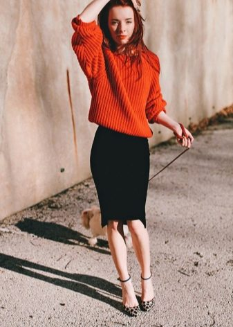 How to wear a sweater and skirt? 7