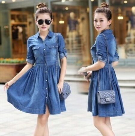 What can I wear with a denim shirt dress? 12