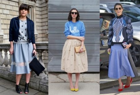 How to wear a sweater and skirt? 12