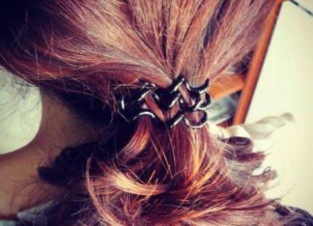 Резинка-пружинка для волос (60 фото): силиконовые ...